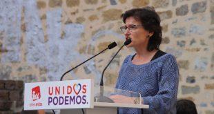 Isabel Salud en acto electoral de Unidos Podemos en Donostia